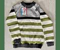 Sweater Combinado Cuatro Colores (gris, negro, blanco, verde)