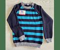 Sweater cuello redondo a rayas