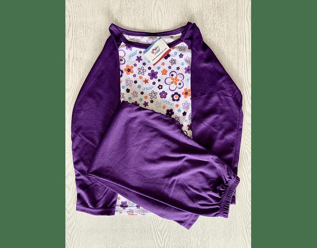 Pijama Flores Moradas