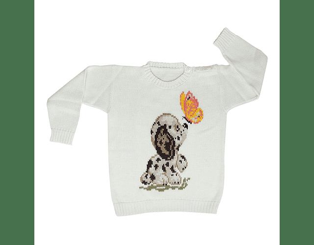 Sweater Perrito y Mariposa