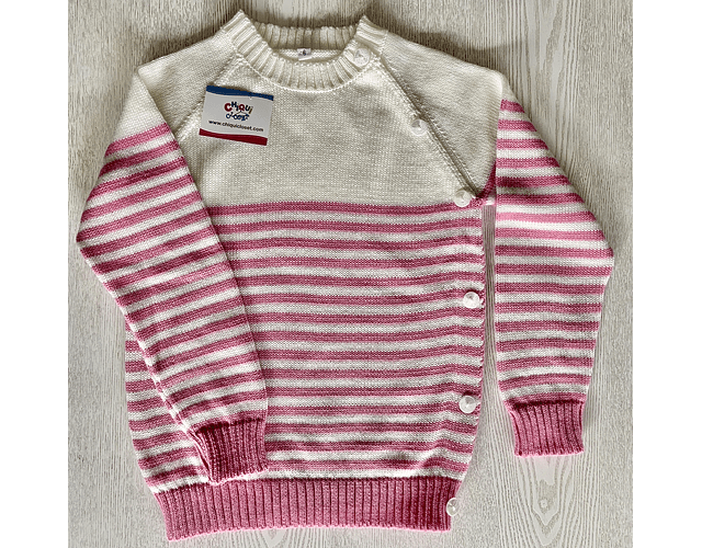 Sweater Rayas Rosa