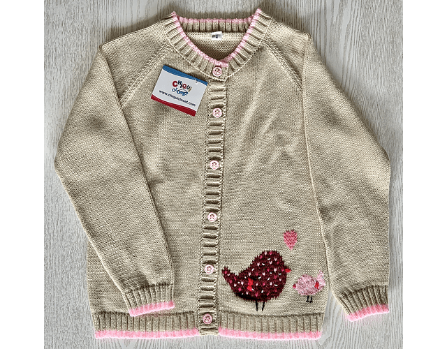 Sweater Abierto Pajaritos