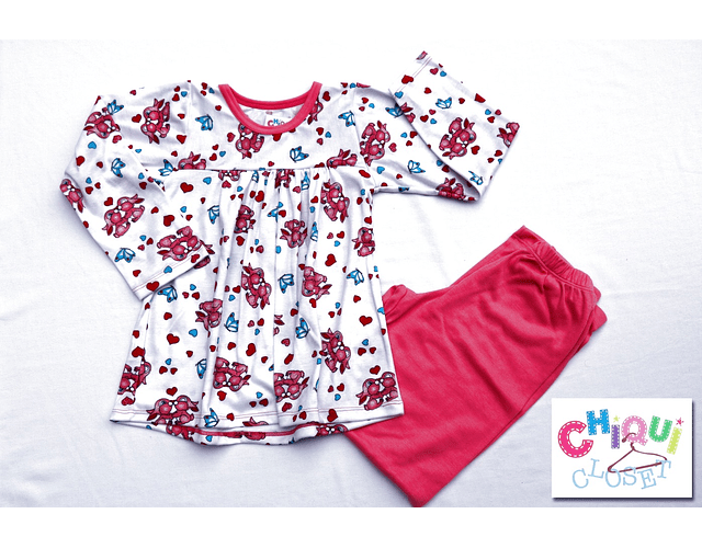 Pijama Batola Conejos Amorosos