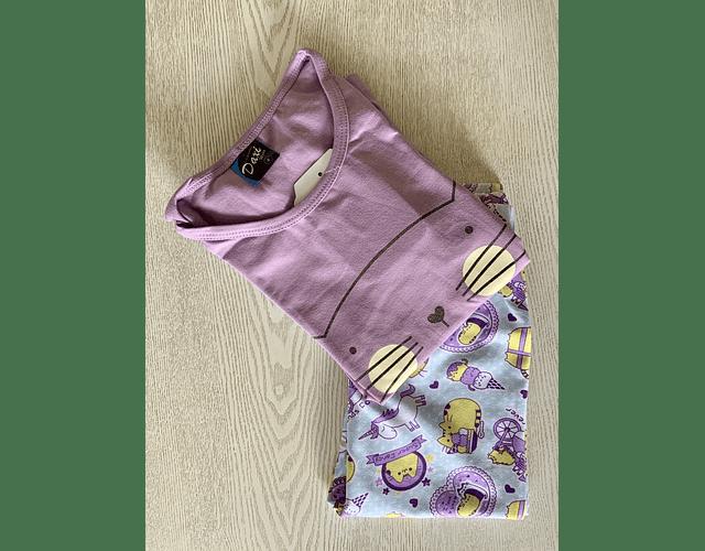 Pijama Kitty (Disponible en Fucsia y Morado)