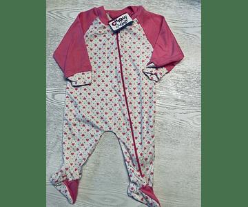 Pijama Enteriza Bebé Corazones
