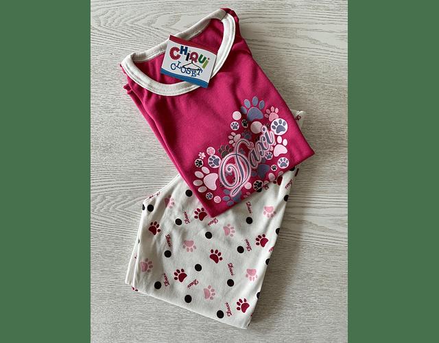 Pijama Huellas y puntos