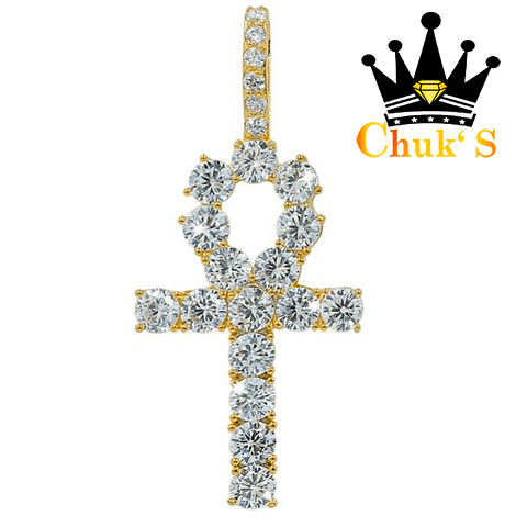 Iced CROSS ROUNDED