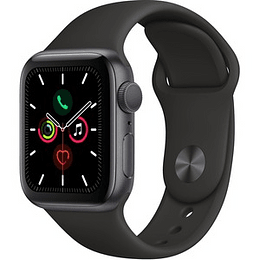 Apple Watch Series 5/GPS/40mm/Space Grey/Aluminium/Case w/Black Sport Band