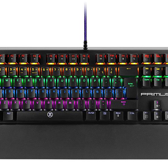Primus teclado mecanico gaming RGB ballista 300 tecla roja