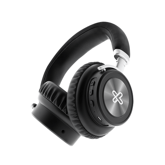 Klip Xtreme audifono bluetooth on-ear negro plegable con estuche