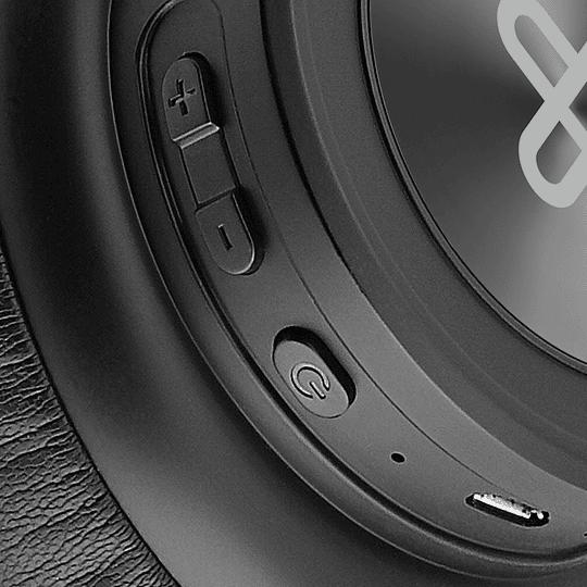 Klip Xtreme audifono bluetooth on-ear negro plegable con estuche