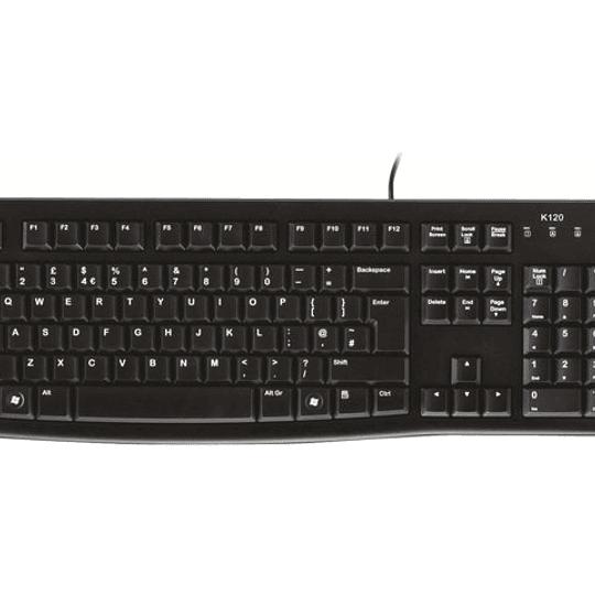 Logitech Teclado K120 USB Español Silencioso/Antiderrame