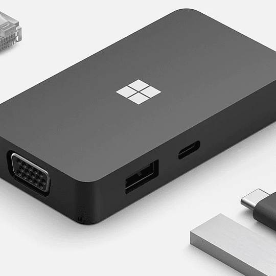 Microsoft USB-C travel Hub color negro 1 USB 1 HDMI 1VGA