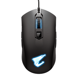 Aorus Mouse Gaming M4 USB Wired Black 6400 DPI RGB