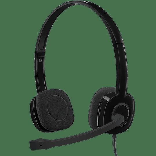 Logitech Headset H151 3.5mm Con Microfono y Controles Integrados