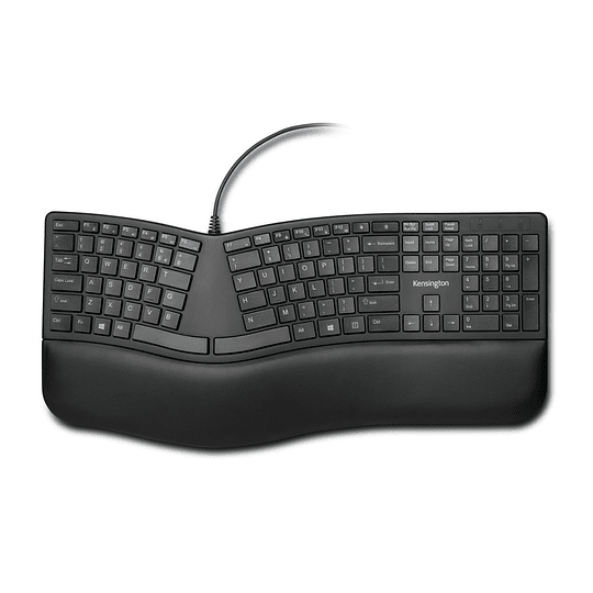 Kensington teclado ergonomico Pro Fit alambrico color negro