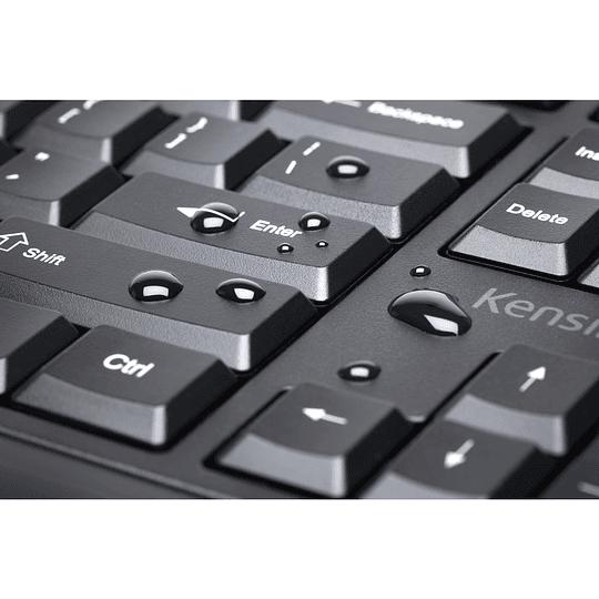 Kensington teclado ergonomico Pro Fit alambrico color negro