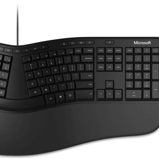 Microsoft Kit Teclado + Mouse Ergonomic Negro