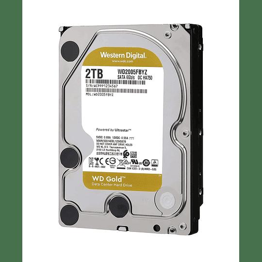 Western Digital Disco duro  2TB GOLD SATA3 128mb 7200rpm