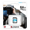Kingston tarjeta SD 64GB  Canvas Go Plus 170MB/s DSLR/Video 4K/Camara MILC