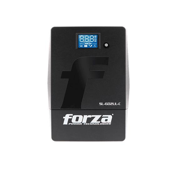 Forza UPS Smart 600VA/360W 220V 5-italian 1-IEC pantalla LED