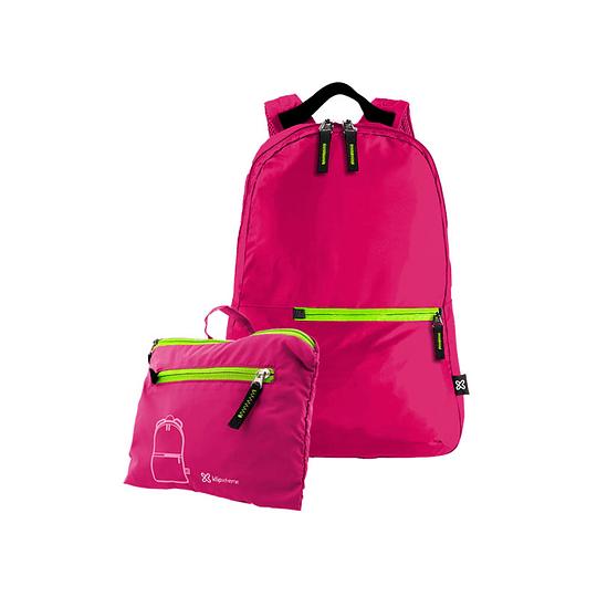 KlipX mochila plegable impermeable rosa 25lts