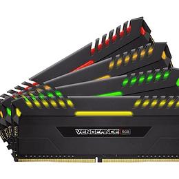 Corsair Memoria RAM Vengeance RGB DDR4 32GB(4x8) 3000Mhz DIMM