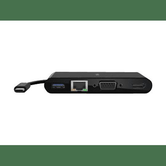 Belkin Adaptador USB-C Multimedia+Charge GBE/HDMI/VGA/60WPD