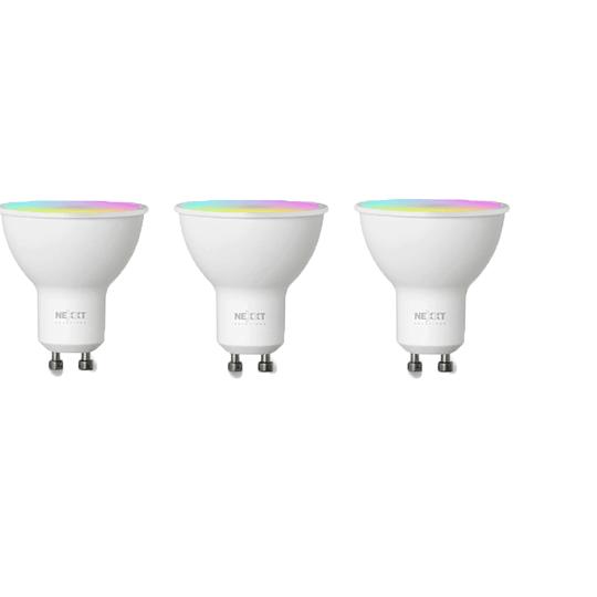Nexxt Home Bombillas LED Inteligente 3 unidades Color RGB