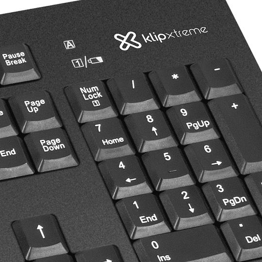 Klipxtreme combo teclado+mouse inalámbrico 2,4GHz español