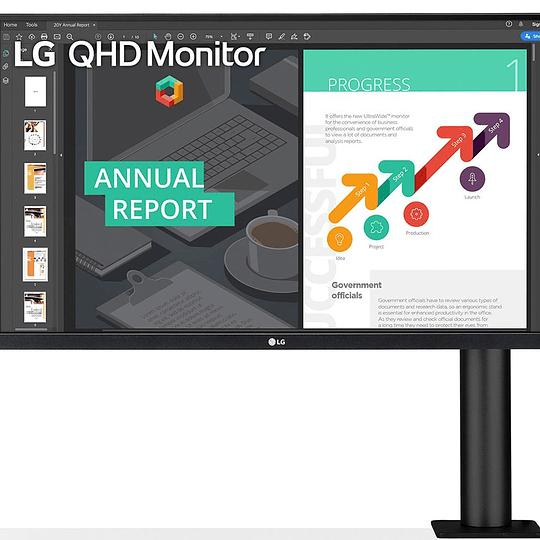 LG Monitor 27QN880-B QHD Ergo IPS 27'' USB Tipo-C™, DisplayPort, 2x HDMI
