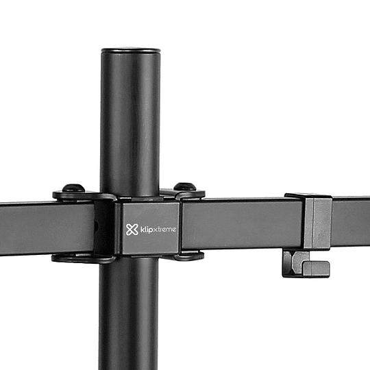 KlipXtreme Soporte doble monitor 13-32