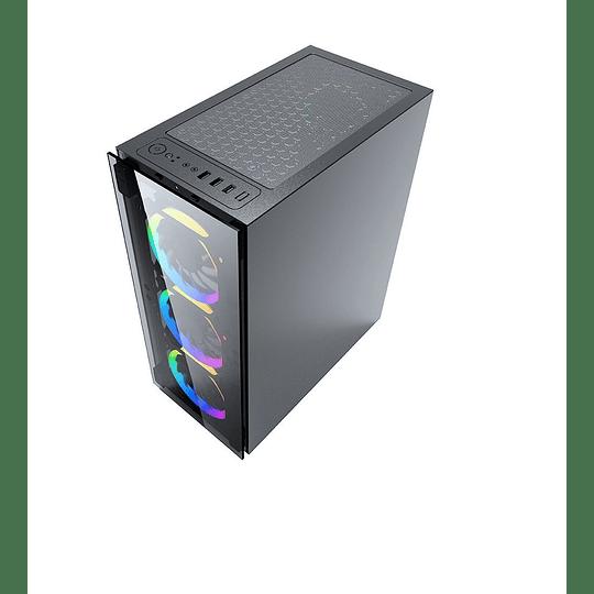 Morpheus Gabinete JX188-10 Gamer 3 Fan frontal RGB ATX 1 FT