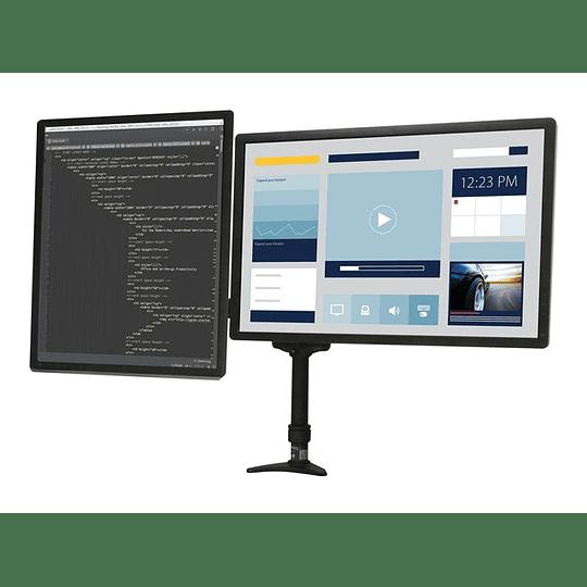 StarTech Soporte Mastil 2 Monitores Articulado