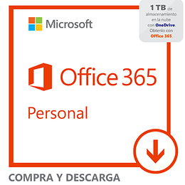 Microsoft Office 365 Personal Downloadable 1 Year Subscription