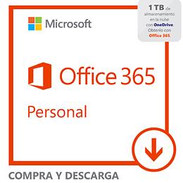 Microsoft Office 365 Personal Descargable Suscripción 1 Año