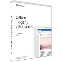 Microsoft Office 2019 Hogar y Estudiantes 1 PC Version Perpetua