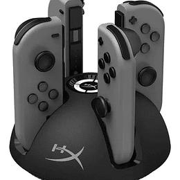 HPX Cargador 4 puertos Nintendo Switch Joy-Con Cable USB 2M