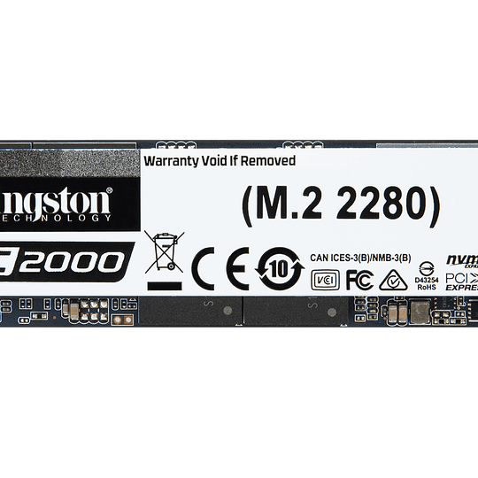 Kingston SSD NVMe KC2000 250GB PCIe Gen 3.0