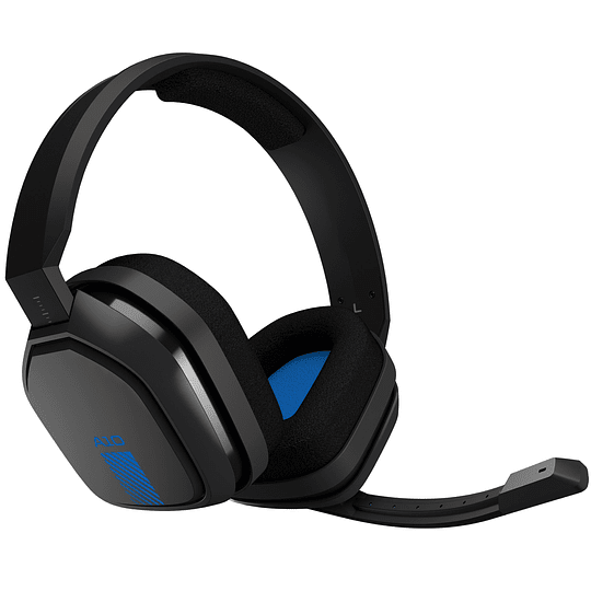 Logitech Audífonos Gamer A10 Azul/Negro Headset Ps4 Xbox One y PC