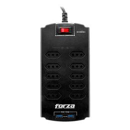 Forza protector sobretension con 10 toma/nacional 2 USB 220V