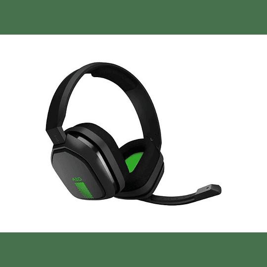 Logitech Audífonos Gamer A10 Verde Negro Headset Ps4 Xbox One y PC