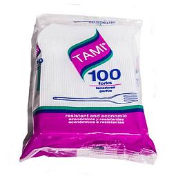 TENEDOR TAMI BLANCO PQ X 100