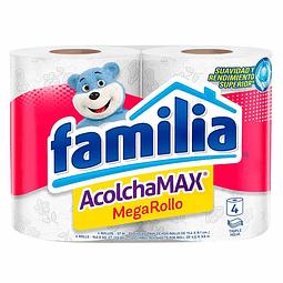PAPEL HIGIÉNICO FAMILIA x4 ROLLOS ACOLCHAMAX