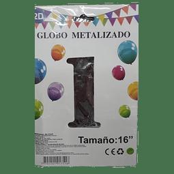 GLOBO METALIZADO 2D COLOR PLATEADO