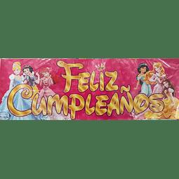 AFICHE LETREO FELIZ CUMPLEAÑOS PRINCESAS