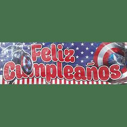 AFICHE FELIZ CUMPLEAÑOS CAPITÁN AMÉRICA