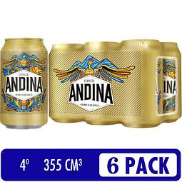 CERVEZA ANDINA 355ml SIXPACK