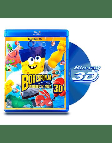 Blu Ray 3D Bob Esponja: Un Héroe Fuera del Agua