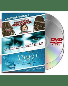 DVD Pack Maratón Vol :7 Viajes Gulliver / Efecto Mariposa / Delfin